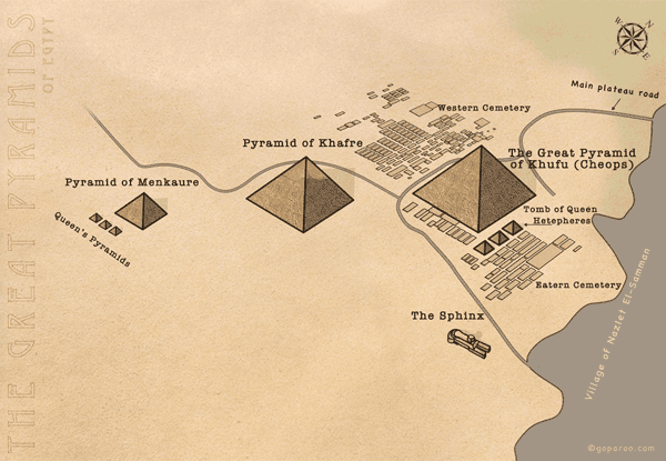 Pyramids of Giza Map thumbnail