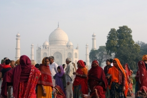 People at the Taj Mahal Picture
