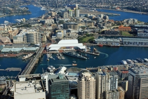 Darling Harbour From Sky thumbnail